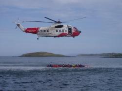 Coastguard display in Lochmaddy bay.